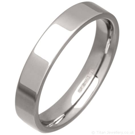 s 4mm palladium 500 flat court wedding ring