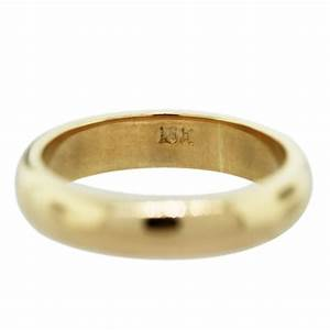 18k yellow gold men39s wedding band ring raymond lee jewelers With gold ring wedding band