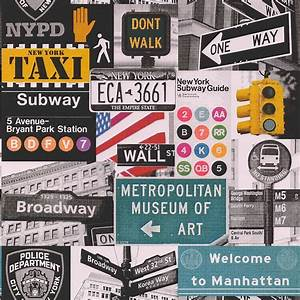Galerie Yolo New York Road Sign NYPD Taxi Broadway ...