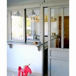 Verrière En Bois : verri re sur cuisine structure en bois verriere interieure pinterest kitchens ~ Melissatoandfro.com Idées de Décoration