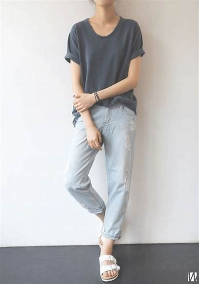 Jeans Minimal Chic Outfit Boyfriend Casual Outfits