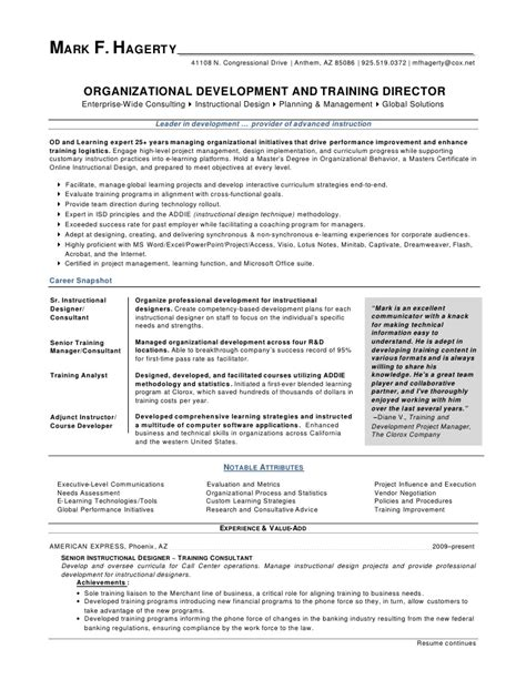 And Development Resume by F Hagerty Od Director Resume