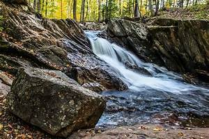Beautiful, Waterfall, In, Autumn, Forest