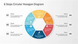 6 Steps Circular Hexagon Diagram