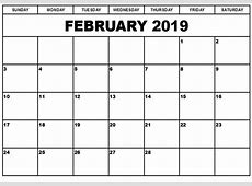 February 2019 Calendar Download February Calendar
