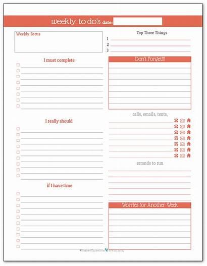 Weekly Daily Planner Printables Week Summer Plan