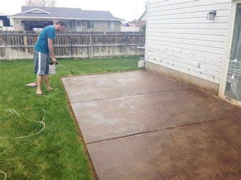 stained sted concrete patio minimalist best 25 concrete patio stain ideas on stained