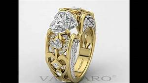Vancaro heart shaped wedding ring plated with gold in for Vancaro mens wedding rings