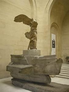 Nike alighting on a warship (Nike of Samothrace), from ...