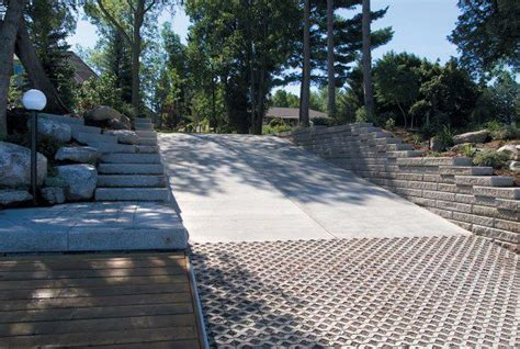 Boat Launch Featuring Turfstone Permeable Paver By Unilock