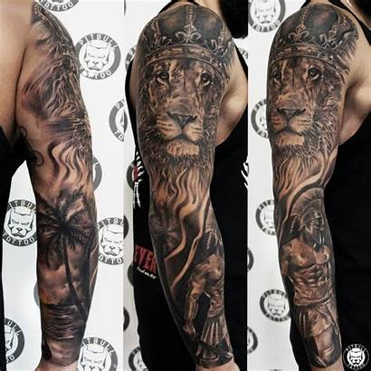 Tattoo Sleeve Realistic Grey Realism Tattoos Arm