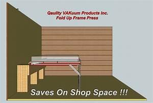 Vacuum flip top frame press for veneering, pressing and