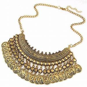2016 bohemian statement coin necklaces pendants for With bijoux collier
