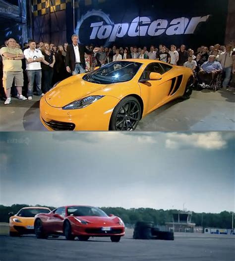 Mclaren Mp4 12c Vs 458 by Top Gear Mclaren Mp4 12c Vs 458 Italia Techeblog