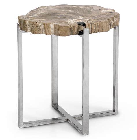 palecek petrified wood side table palecek sliced petrified industrial loft petrified wood