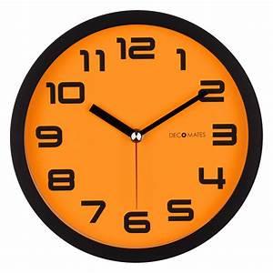 Color Block – Orange Pumpkin Silent Wall Clock DECOMATES