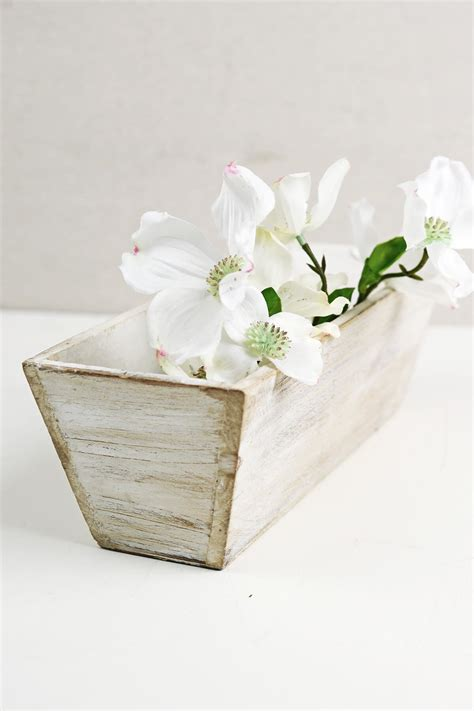 wooden box vases white tapered 4x12 planter boxes wood