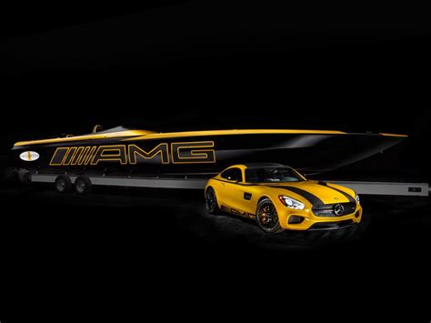 Cigarette Racing Boat Amg by Mercedes Amg Gt Inspired Cigarette Racing 50 Marauder Gts