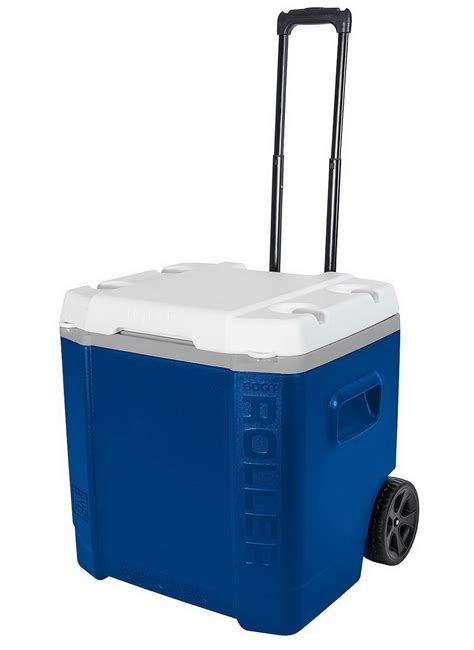 igloo cooler  quart large capacity roller rolling ice chest