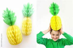DIY Pineapple Honeycomb Party Decorations - Party Ideas