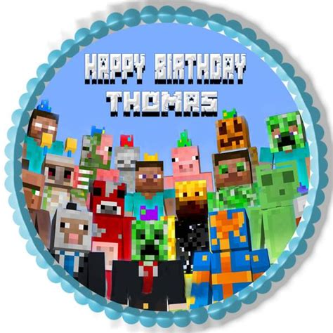 minecraft characters  edible cake topper  cupcake