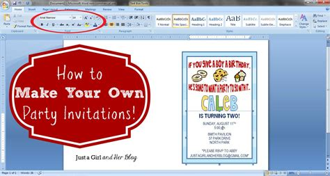 How to Make Your Own Party Invitations Make birthday
