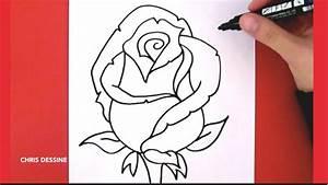 Modèle De Dessin Facile : dessin facile comment dessiner une rose chris dessine ~ Melissatoandfro.com Idées de Décoration