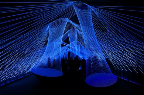 light and sound interactive light and sound installation plays like a guitar