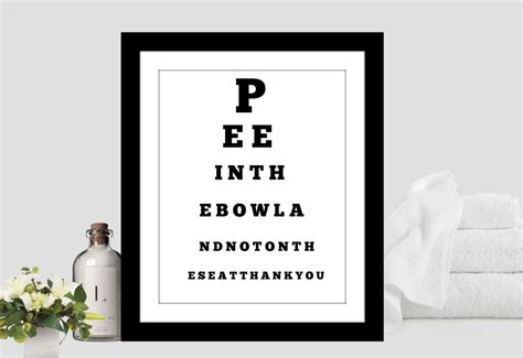 Downloadable DIY Bathroom Eye Chart