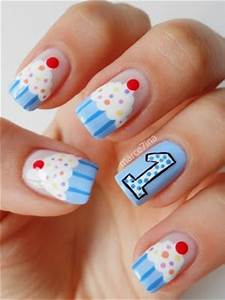 Easy Birthday Nails Designs u0026 Ideas 2014   Fabulous Nail Art Designs