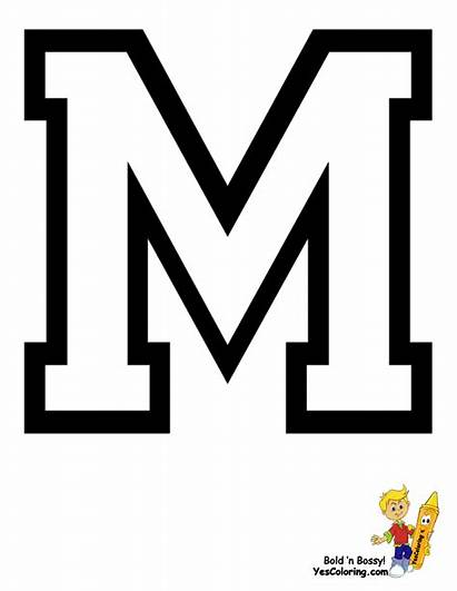 Coloring Pages Alphabet College Sports Football Printables
