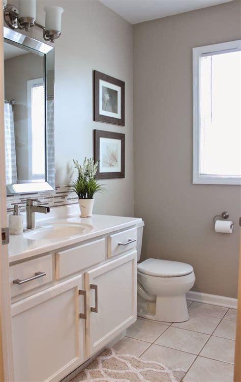 guest bathroom reveal beige tile bathroom beige