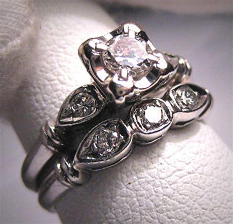 platinum wedding ring vintage deco band