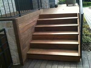 Escalier Terrasse Bois : escalier marches bois sur mesure de terrasse en hauteur ~ Nature-et-papiers.com Idées de Décoration