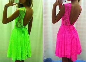 dress neon neon dress neon pink pink green dress With robe rose fluo