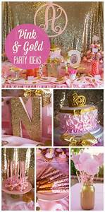 Pink and Gold Party Theme sweet 16 or complianos | kids ...