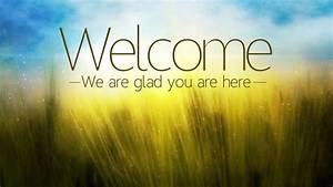 Welcome, greeter loop for Church or worship service loop ...