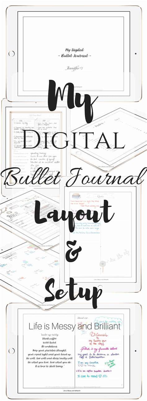 digital bullet journal template my digital bullet journal