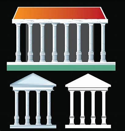Temple Ancient Roman Clip Rome Clipart Illustrations