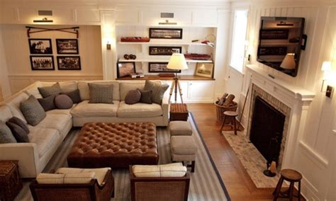 Furniture Layout Ideas, Basement Family Room Ideas. Sectional In A Small Living Room. Leather Chairs Living Room. Oak Living Room Furniture Set. Gray Living Room Furniture Sets. Living Room Shelves. Rooms To Go Living Room Tables. Modern Wall Decor For Living Room. Nautical Decor Living Room