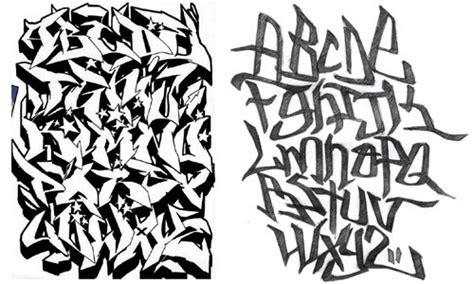 Abjad Graffiti Bubble : Calligraphy Alphabet For Fancy First Letters