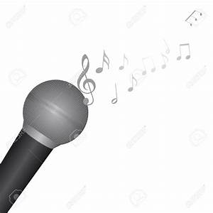 Microphone With Music Notes Clipart - ClipartXtras