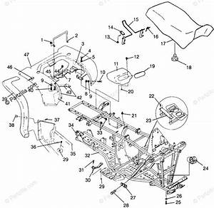 Polaris Atv 1996 Oem Parts Diagram For Rear Cab  U0026 Seat