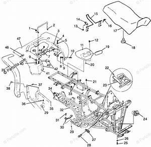 Polaris Atv 1996 Oem Parts Diagram For Rear Cab  U0026 Seat