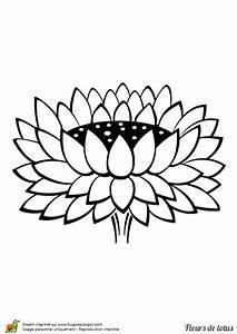 Dessin Fleurs De Lotus : coloriage fleur de lotus stylisee sur ~ Dode.kayakingforconservation.com Idées de Décoration