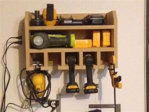 16 Cordless drill storage and charging stations
