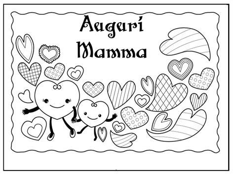 biglietti da colorare  la festa della mamma mamma