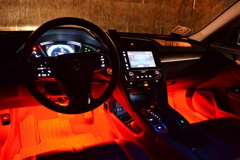 galaxy rider ledglow interior lighting kit  honda