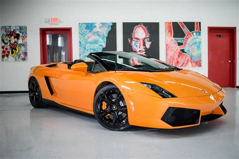 lamborghini car lamborghini gallardo spyder orange miami exotics