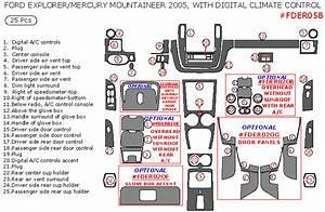 Ford Explorer  Mercury Mountaineer 2005 Interior Dash Kit